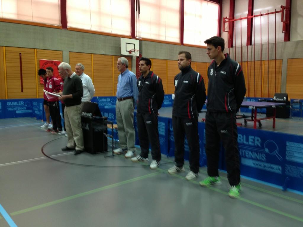 Spielerpräsentation der 1. NLA Runde: Rio-Star Muttenz gegen Wil